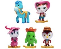 Sheriff Callie CAKE TOPPER Callie's Wild West Sparky Deputy Peck 5 Figure Set Birthday Party Cupcakes Figurines Disney * FAST Shipping *