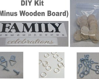 Family Birthday Board Kit, DIY Kit, DIY Crafts, Birthday Board Kit, Mother's Day Gifts, Crafts, Family Birthdays, Mothers Day, No Board