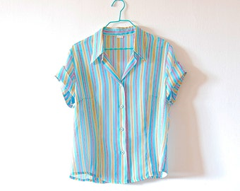 Vintage Stripe Shirt 1970s