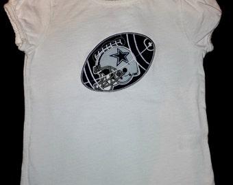 Little Girls NFL Football Cheerleader Shirt