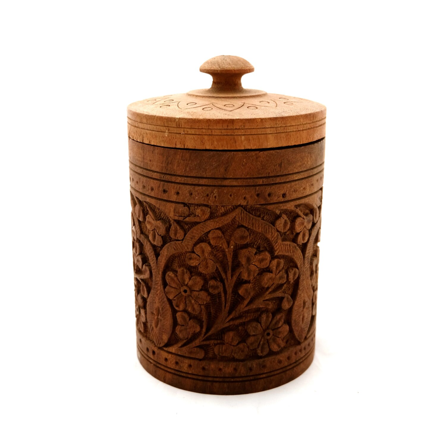 Round Decorative Boxes: Vintage Tall Round Wooden Box Wooden Barrel Box Decorative