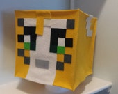 Stampylongnose Plush Mine mining pixel Craft Character head for parties and dress up