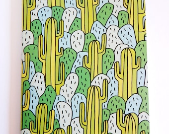 Cosmic Ginge A5 Cacti Blank Notebook Sketchbook 80GSM Recycled Paper