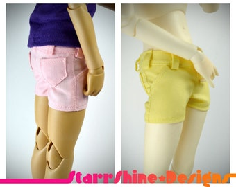 BJD MSD 1/4 Doll Clothing - Short Shorts - Your Choice of 5 Pastel Colors