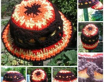 PDF Crochet  PATTERN Kaptan Kaaoss Burning Skull Hat Choice  3 different Brim styles