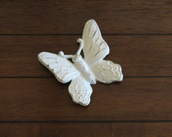Butterfly Wall Hanging/Cast Iron/Vintage Inspired/Pale Blue or Pick Your Color /Shabby Chic Wall Decor/Girl's Room