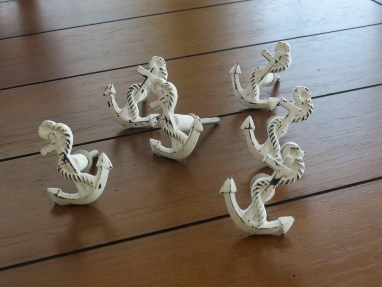 Anchor Shaped Knobs Drawer Knobs Dresser Knobs Sea Theme