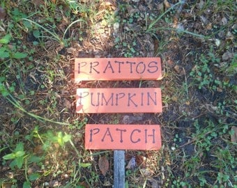 Pumpkin Patch Personalized Rustic Sign