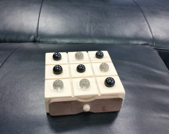Tic Tac Toe Game, Marble Tic Tac Toe, Wood Toy Game,  Stocking Stuffer, Christmas Gift,Travel Game, Kids toys, Childrens Games, Party Favor