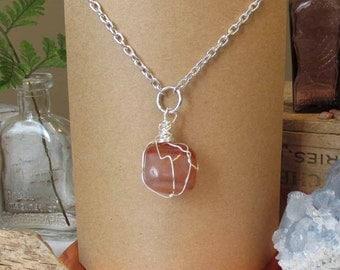 Polished Rock Necklace, Long