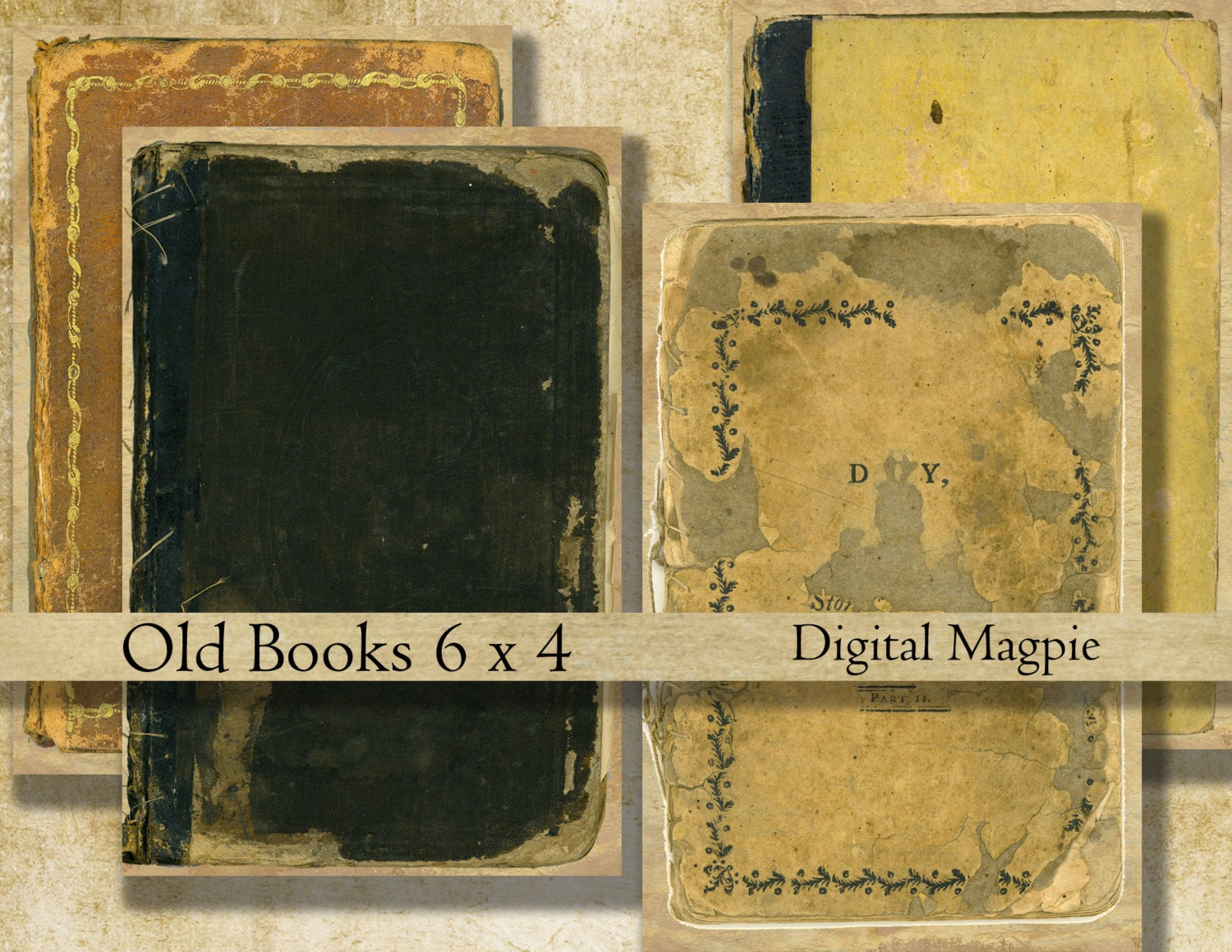 Antique Book Cover Paper : Old book covers digital background paper grunge tattered