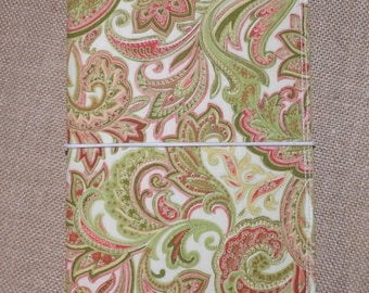 Melon Paisley Fabric Monadori Made to order