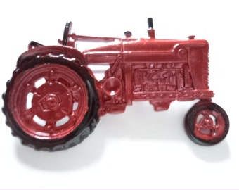 Vintage Signed JJ Red Tractor Brooch/Pin