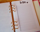 TO DO - Planner Inserts - Planner inserts for Large/A5 Planners Filofax or Kikki K