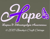 Decal, Car, Automobile, Hope Decal Lupus & Fibromyalgia