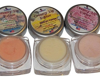 Adorable Lip Butter 3 Pack, Pink Frosting, Lemon Pound cake and Pumpkin Cheesecake