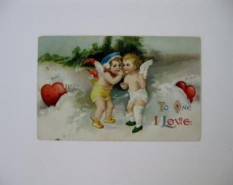 Valentine's Day Artist Signed Postcard - Ellen Clapsaddle - Valentine Series #3002 - Used - 1912