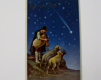 E Colombo - Artist Signed Post Card - Christmas Eve Series 1806/3 - Unused - 1910s