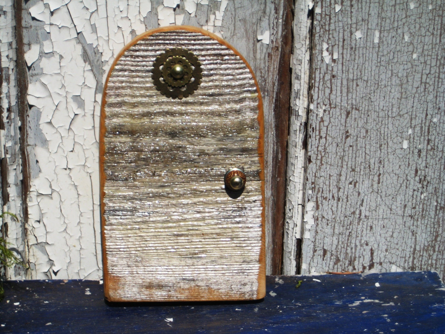 Fairy kit wooden fairy door mini wood door elf by for Wooden fairy doors