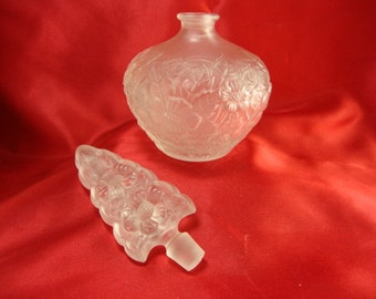 White Frosted Perfume Bottle