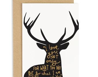 Love Deer Poem Card - Love card - Valentine's Card - CC86