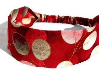 Red Headband Asian Fan by Sheylily