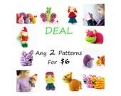 Crochet Pattern , Amigurumi  PDF Tutorial Deal - SET of 2