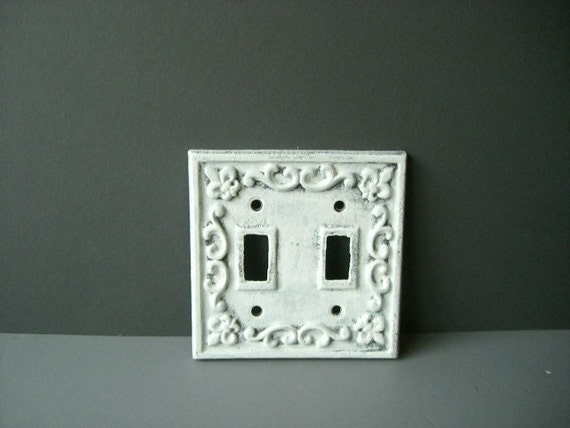 Light switch cover cast iron plate chic romantic wall
