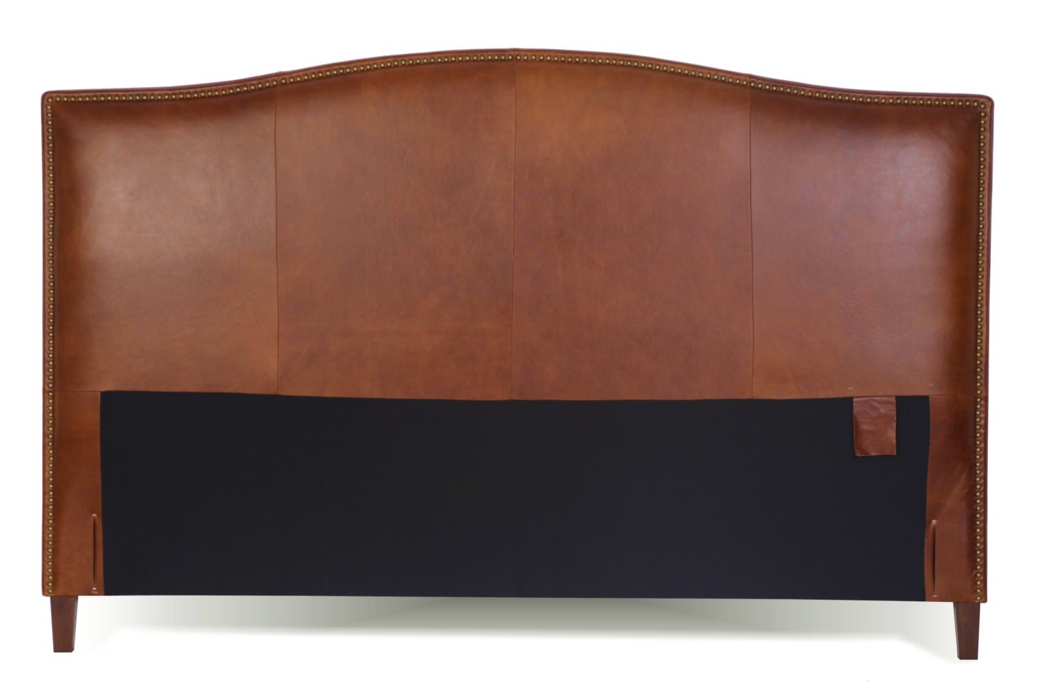 King Headboard Size King Size Tobacco Brown Leather Headboard For Bed With Brass Nail