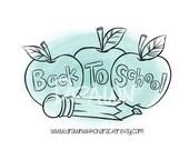 Back to School Apples, Digital Stamp/ KopyKake Image- F2-BKSCHAPP