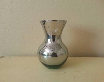 Curvy Mercury Glass Vase