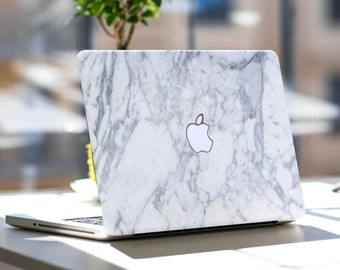 "Makrana White Marble Skin for Apple Macbook Air & Mac Pro Retina, New Macbook 12"" , Toshiba HP Dell Asus Acer Lenovo Samsung"