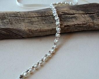 Pearl Wedding Belt, Bridal Belt, Sash Belt, Pearl and Rhinestone Belt, Wedding Accessory, Bridal Accessories