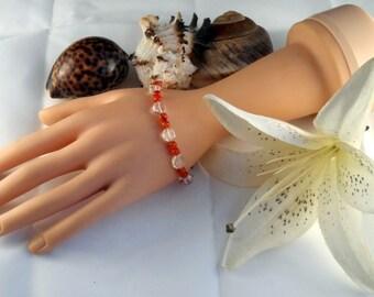 Carnelian and Rock Crystal Bracelet