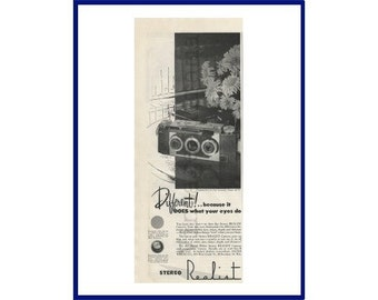 DAVID WHITE Stereo Realist Camera Original 1948 Vintage Black & White Print Ad - 3D Stereoscopic Camera; Three Dimensional Photography