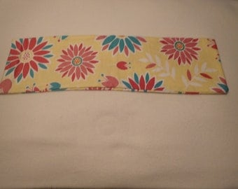 Neck Heating Pad, Shoulder Heating Pad, Cold Pack, Flax Seed Heating Pad, Natural Heating Pad, Bright Yellow, Pink Flowers, Blue Petals,