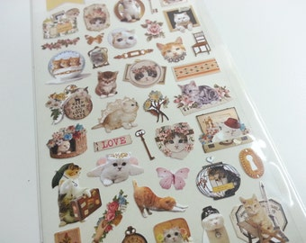 Loveky Cat Paper Sticker  - 1 Sheet