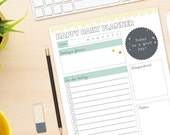 Happy Daily Planner - DIY Desk Planner - Printable Planner / Calendar
