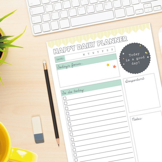 Desk Calendar Planner : Happy daily planner diy desk printable by paperjoyuk