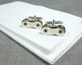 Campagnolo Record 11 Speed Sterling Silver Bicycle Chain Cufflinks