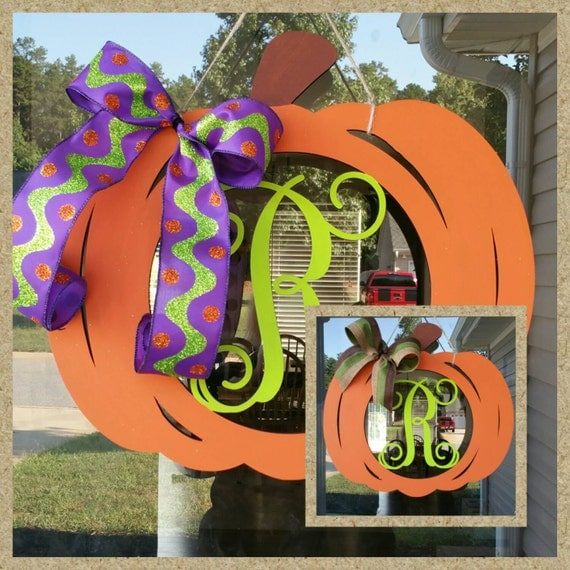 """Pumpkin Monogram Letter - Large or Small, Unfinished, Perfect for Your Holiday DIY Crafts  -  Sizes 1"""" to 42"""""""