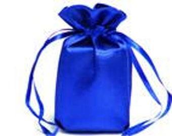 Large Royal Blue Satin Gift Bag