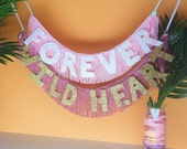 Wild Heart Glittering Fringe Banner | garland, photo prop, wall hanging, home decor, party decor, decor sign, wild at heart, stevie nicks