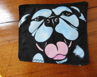 Smiling Blue Pitbull Patch