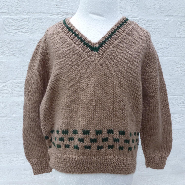 Jumper handmade sweater kids top boys girls jumper brown top for Best wool shirt jackets