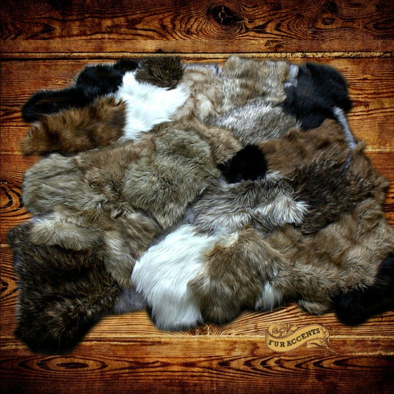 FUR ACCENTS Faux Fur Rabbit Sheepskin Bear Skin Wolf By