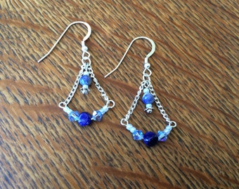 Earrings with Lapis Lazuli and sodalite