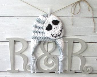 Jack Skellington Nightmare Before Christmas Inspired Baby Hat Jack Skellington Crocheted Baby Beanie