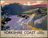 England Yorkshire Whitby LNE Rail Poster Print 1920s