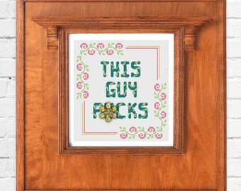 This Guy F*cks - Silicon Valley Cross Stitch Pattern